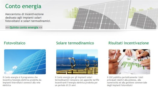 Il Conto Energia del GSE